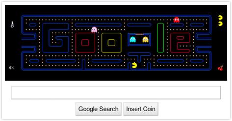 Pac-Man a Google oldalán