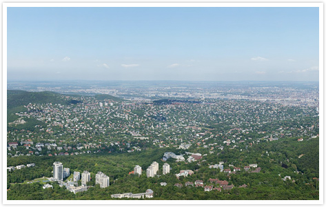 70 gigapixeles panorámakép Budapestről
