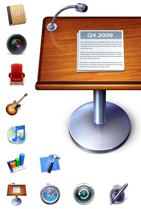 Apple alkalmazások ikonjai